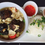 Oxtail soup rice