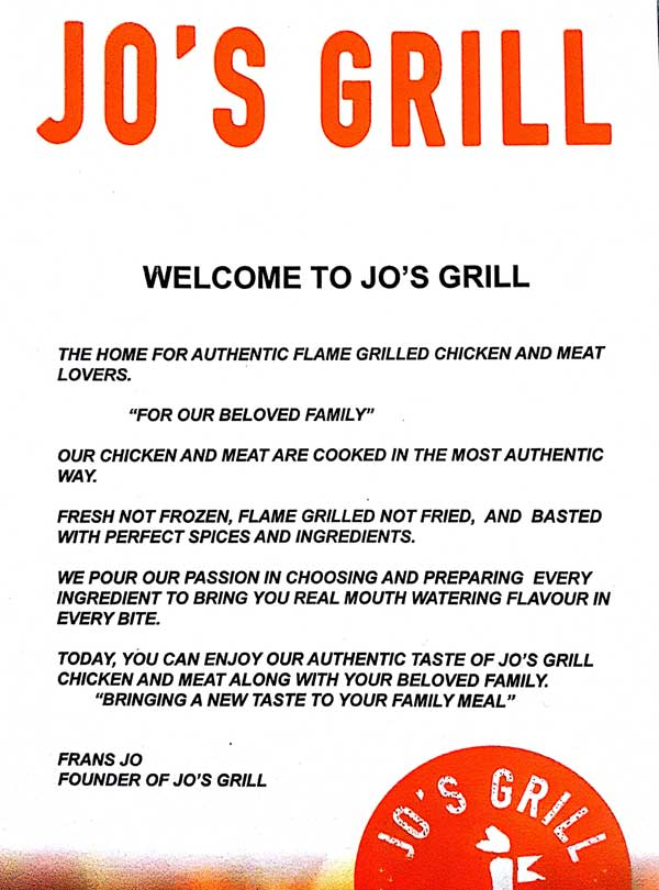 Welcome to Jo's Grill